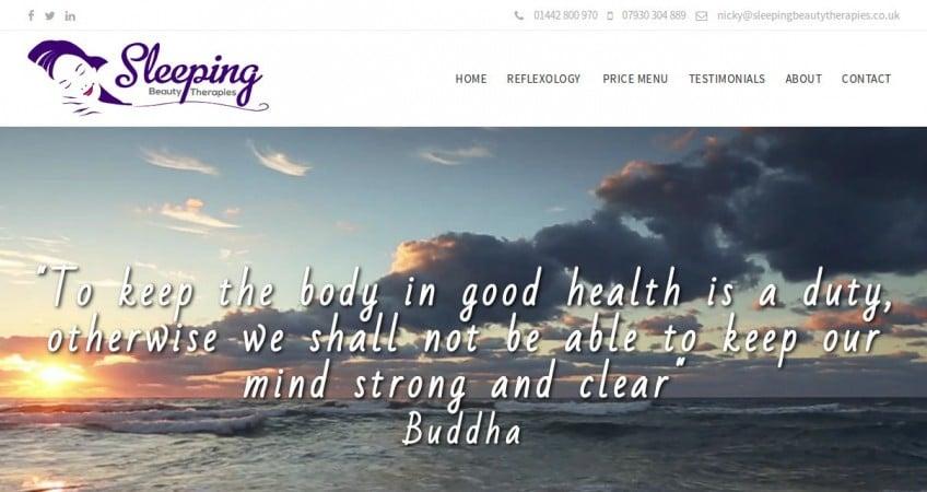 New website for a Reflexologist